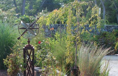 Armillary Dial Sculpture, Plantings, Grasses