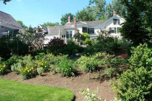 Trees, Perennial Gardens, Lawn, Granite Steps