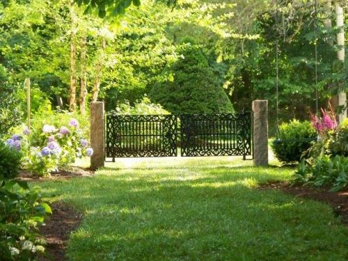 Iron Gates, Granite Posts, Tree and Shrubbery Installation